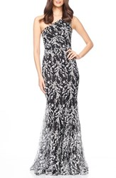 Women's David Meister Embroidered Woven Mermaid Gown
