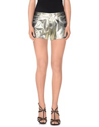 Blumarine Denim Denim Shorts Women Platinum