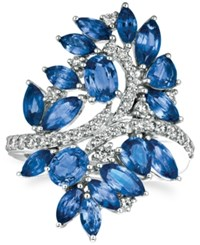 Le Vian Precious Collection Sapphire 4 3 8 Ct. T.W. And Diamond 1 2 Ct. T.W. Statement Ring In 14K White Gold