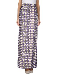 Maison Rabih Kayrouz Skirts Long Skirts Women Purple