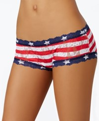 Hanky Panky Stars And Stripes Signature Sheer Lace Boyshort 8N1312 Multi