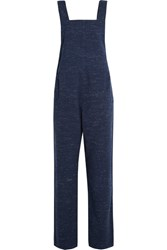 A.P.C. Atelier De Production Et De Creation Bryce Cotton Blend Tweed Overalls Navy