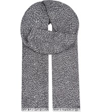 Sandro Sunset Modal Scarf Navy Blue