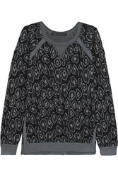 Marc By Marc Jacobs Cassidy Leopard Jacquard Sweatshirt Black
