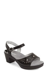 Women's Alegria By Pg Lite 'Reese' Cutout Sandal Uptown Black Leather