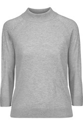 Magaschoni Silk And Cashmere Blend Sweater Stone