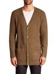 Wesc Abel Wool Blend Cardigan Forest Green