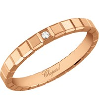 Chopard Ice Cube 18Ct Rose Gold And Diamond Ring