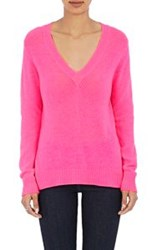 Barneys New York Women's V Neck Sweater Pink