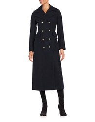 Bcbgeneration Double Breasted Long Peacoat Navy