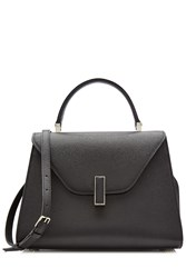 Valextra Isis Large Leather Tote Black