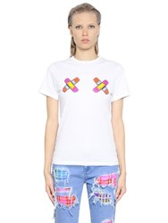 House Of Holland Fight Girl Printed Cotton T Shirt