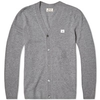 Acne Studios Dasher Face Cardigan Grey Melange