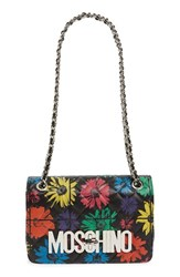Moschino 'Medium Letters Floral' Crossbody Bag Black Black Floral Multi