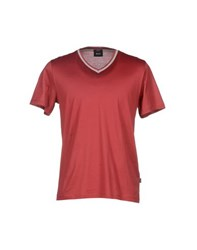 Boss Black Topwear T Shirts Men Brick Red