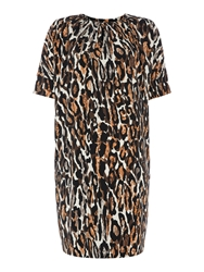 Mary Portas Leopard Tuck Front Dress