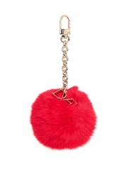 Diane Von Furstenberg Monogram Fur Key Ring