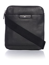 Tommy Hilfiger Business Leather Mini Flat Crossbody Black