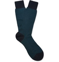 Pantherella Blenhei Erino Wool Blend Socks Petrol