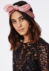 Missguided Bow Detail Headband Pink