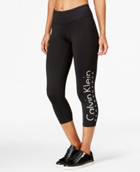Calvin Klein Performance Logo Capri Leggings White Combo