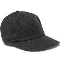 Brunello Cucinelli Wool Felt Baseball Cap Charcoal