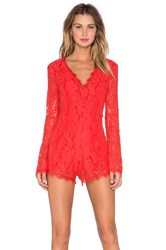 Endless Rose Lace Romper Red