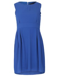 Tenki Plain Chiffon Sleeveless Dress Royal Blue