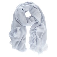 Mint Velvet Textured Scarf Blue Sky
