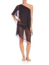 Carmen Marc Valvo St. Barths One Shoulder Layered Coverup