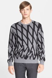 Paul Smith Print Cashmere Blend Sweater Gray