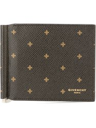 Givenchy Cross Print Wallet Black