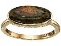 Cole Haan Basket Weave Oval Semi Precious Ring Gold Labradorite Ring