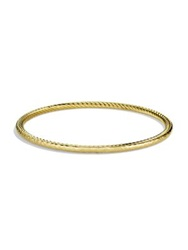 David Yurman Cable Classics Hammered Bangle In Gold