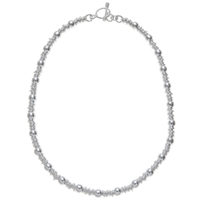 Andea Sterling Silver Ring And Ball Necklace