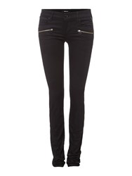 Replay Brigidot Biker Skinny Fit Jeans Black