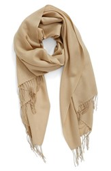 Nordstrom Women's Tissue Weight Wool And Cashmere Scarf Tan Nomad