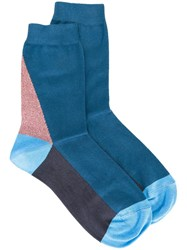 Paul Smith Paneled Socks Blue