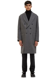 Ami Alexandre Mattiussi Oversized Double Breasted Coat Black