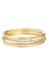 Women's Kate Spade New York 'Stack Attack' Bangles Gold Set Of 2