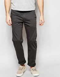 Farah Chino In Slim Fit Stretch Cotton Grey