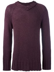Societe Anonyme V Neck Jumper Pink Purple