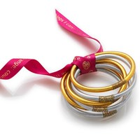 Budhagirl All Weather Bangles Silver And Gold Set