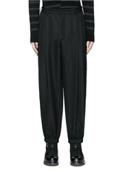 Mcq By Alexander Mcqueen Relaxed Fit Pleat Front Wool Pants Black
