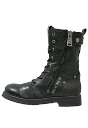 Replay Beds Laceup Boots Schwarz Black