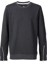 G Star G Star Sleeve Zip Sweater Grey
