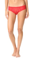 Natori Feathers Hipster Briefs Real Red