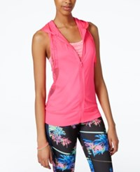 Material Girl Active Juniors' Hooded Mesh Vest Only At Macy's Flashmode