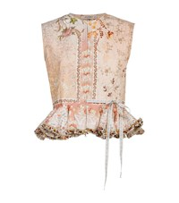 Etro Floral Peplum Gilet Female Pink