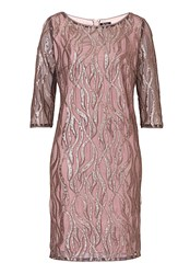 Vera Mont Sequin And Net Dress Beige